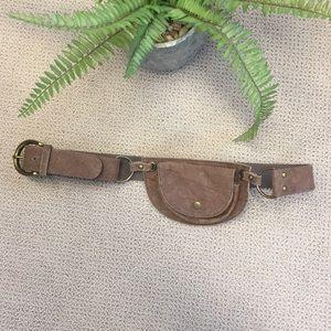 Leather Belt with Side Utility Pocket